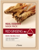 Juno Real Essence Mask Pack Red Ginseng Тканевая маска с красным женьшенем