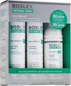 Bosley Bos Defense Starter Pack Normal to Fine Non Color-Treated Hair Система Зеленая (шампунь, кондиционер, уход)