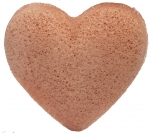 The Konjac Sponge Company Premium Heart Puff with French Pink Clay Спонж для лица с розовой глиной