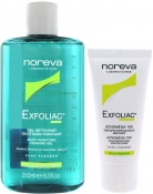 Noreva Exfoliac Daily Care Set (Purifying Foaming Gel 250ml, Acnomega 100 30ml) Эксфолиак Набор