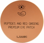 L.Sanic Peptides and Red Ginseng Premium Eye Patch Патчи с пептидами и женьшенем