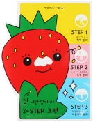 Tony Moly Homeless Strawberry Seeds 3-step Nose Pack Патчи от черных точек