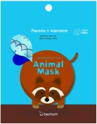 Berrisom Animal Mask Series Raccoon Маска тканевая с экстрактом плаценты Енот