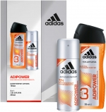 Adidas Adipower Men Gift Set Набор (антиперспирант-спрей, гель для душа)