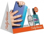 Sally Hansen Sally Hansen Gift Set (Diamond Strength Diamond Shine Base & Top Coat, Big Glitter Top Coat in Blue Moonlight) Салли Хансен Набор