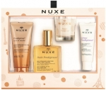 Nuxe Prodigieux Gift Set (Shower Oil, Huile Prodigieuse, Creme Prodigieuse, Candle) Набор Продижьёз (Масло для душа, Сухое масло, Крем, Свеча)