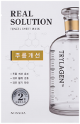 Missha Real Solution Tencel Essential Sheet Mask Wrinkle Caring Омолаживающая маска для лица