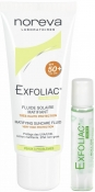 Noreva Exfoliac Set (Matifying Suncare Fluid SPF50+, Roll-On Anti-Imperfections) Эксфолиак Набор
