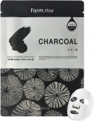 Farm Stay Visible Difference Mask Sheet Charcoal Тканевая маска с углем