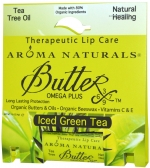 Aroma Naturals Butterx Iced Green Tea Therapeutic Lip Care Помада для губ Зеленый чай