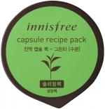Innisfree Сapsule Recipe Pack Green Tea Капсульная маска для лица с экстрактом зеленого чая