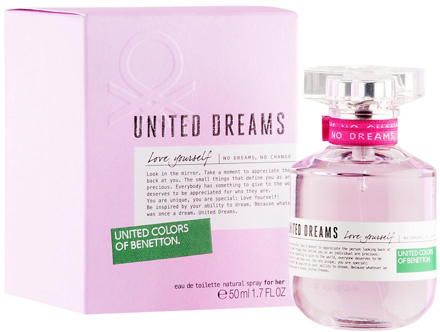Benetton United Dreams Love Yourself туалетная вода 50мл купить в