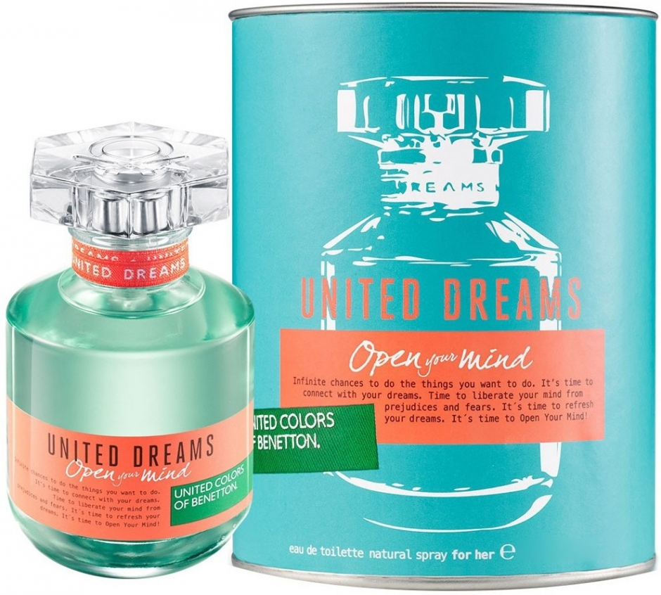 Benetton United Dreams Open Your Mind туалетная вода 80мл купить в